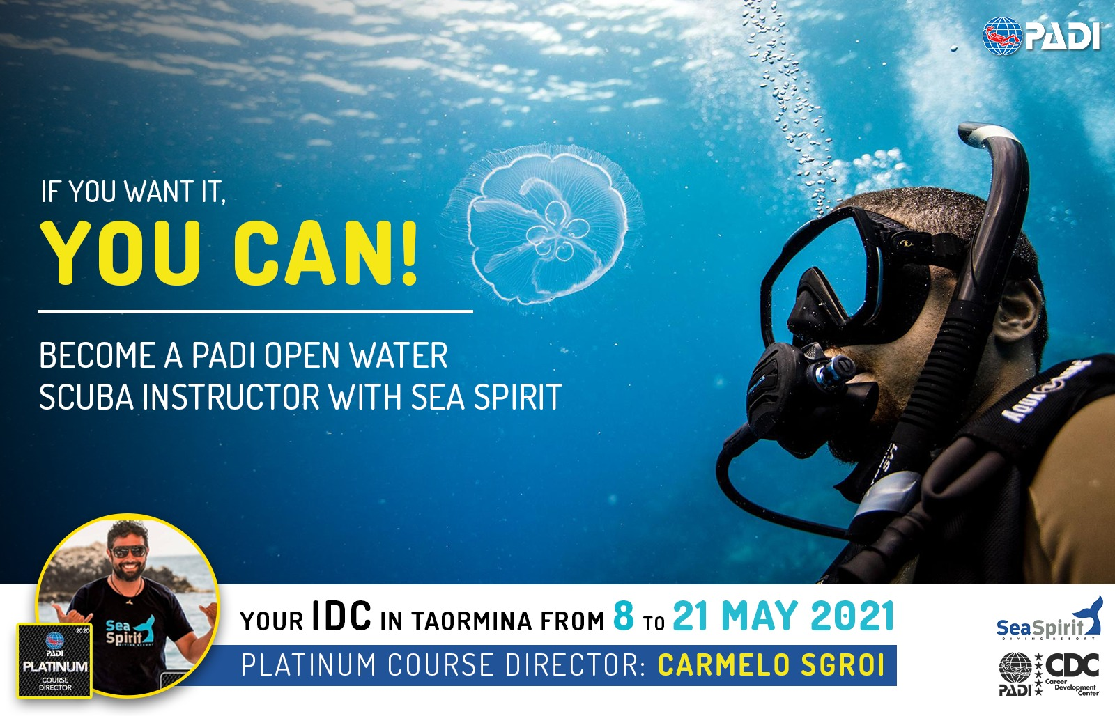 TOP 10 Reasons to join our IDC at Sea Spirit Diving Academy in Taormina, Sicily