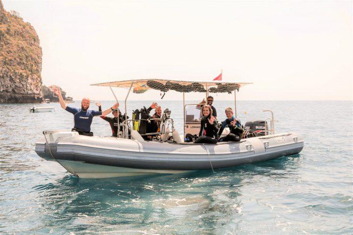 Sea Spirit Boat at Isola Bella Marine Park Taormina